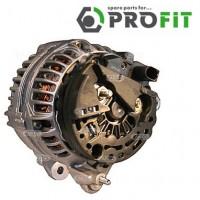 Т4 генератор 2.4D, 2.5TDI 120A под ручейковый ремень с полукруглым разъемом (PROFIT - Чехия)