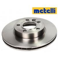 Т4 Тормозные диски передние 2.5B, 2.4D, 2.5TDI после 1996г. ВЕНТИЛИРУЕМЫЕ (METELLI - Италия)