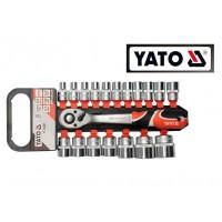 Набор шестигранных головок+ручка с храповым механизмом (трещотка) (YATO)