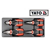 Профессиональный набор инструментов (ПЛОСКОГУБЦЫ) 4 ед. (YATO)