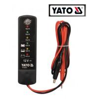 ТЕСТЕР ЦИФРОВЫЙ 12V для аккумулятора (YATO)