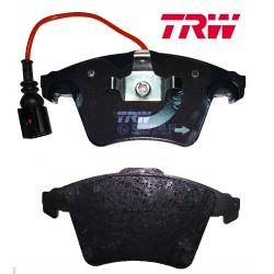 Передние тормозные колодки с датчиком для VW Transporter 5 (TRW)