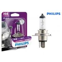Т4, Т5 лампа в фару H4 +60% (PHILIPS)