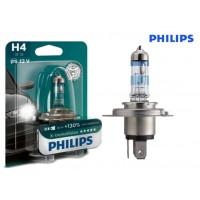 Т4, Т5 лампа в фару H4 +130% (PHILIPS)