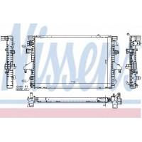 Т5 радиатор двигателя 2.0B, 1.9TDI (NISSENS)