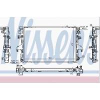 Т5 радиатор двигателя 2.5TDI (NISSENS - Дания)