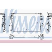 Т5 радиатор двигателя 2.0TDI (NISSENS)