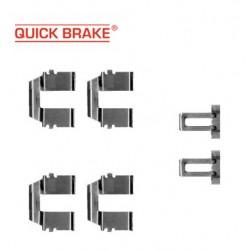 Прижимные пластины - пружинки задних колодок для VW Transporter 4 с задними дисковыми тормозами (QUICK BRAKE)