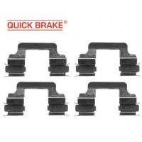 Т5 пластины - пружинки ЗАДНИХ колодок (QUICK BRAKE)