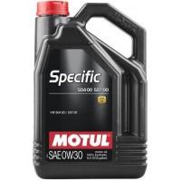 Масло моторное (синтетическое, энергосберегающее) SAE 0W-30 Specific 504 00/507 00 , 5л (MOTUL)