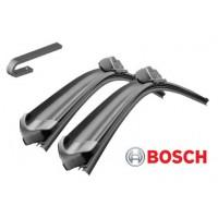 Т5 комплект бескаркасных щеток ПЕРЕДНЕГО стеклоочистителя AEROTWIN (крепление-крючок) (BOSCH - Германия)
